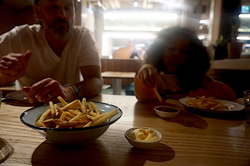 Fries and dips at Miss Lucy's Rooftop Bar and Pizzeria, Queenstown